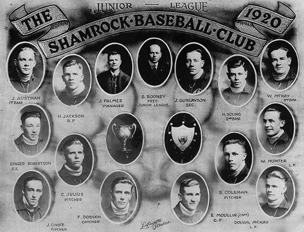"""Chick"" Chafe pitched for the Shamrock Baseball Club in 1920."