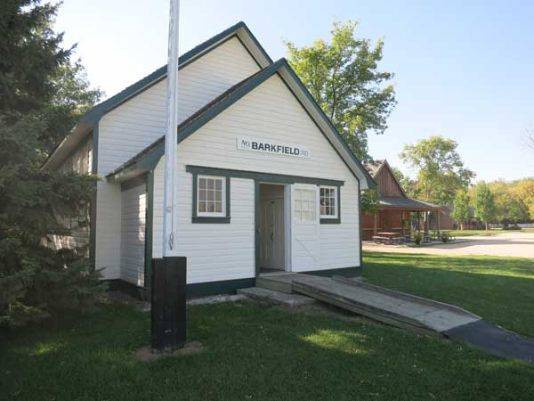 The former Barkfield School building, now at the Mennonite Heritage Village Museum