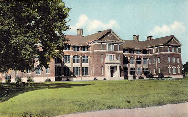 Postcard view of the Valleyview Building, opened in 1925 and closed in 1992