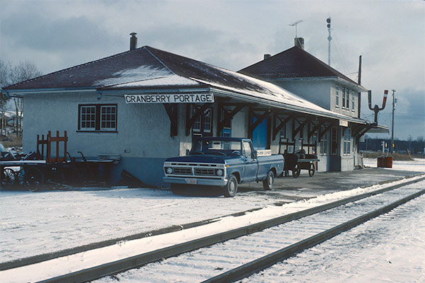 Canadian National Railway station at Cranberry Portage
