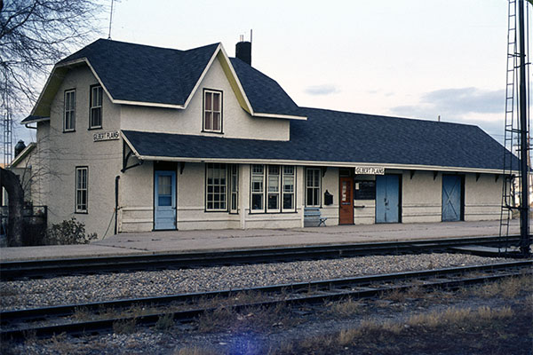 Canadian National Railway station at Gilbert Plains