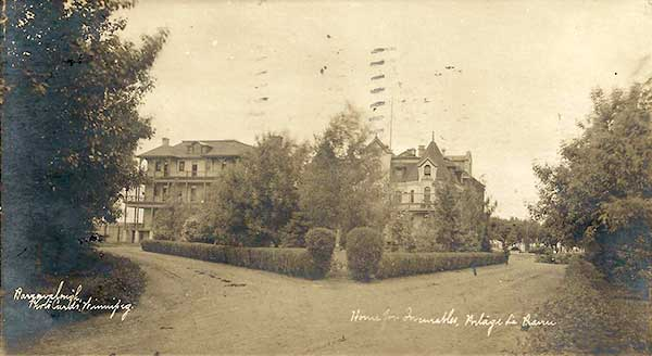 Postcard view of Home for Incurables