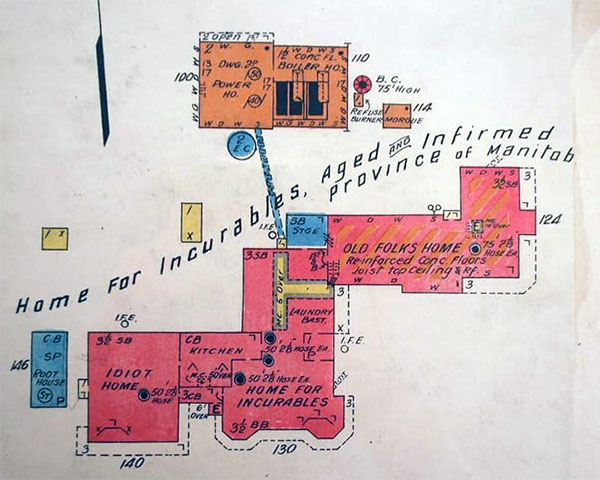Map of building at Home for Incurables