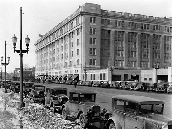 A view of the HBC department store in Winnipeg