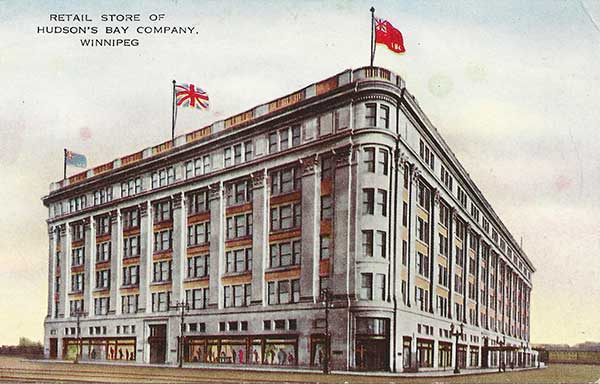 Postcard view of the Hudson's Bay Company Store