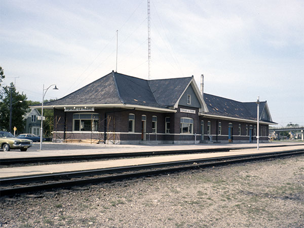 Canadian National Railway station at Portage la Prairie